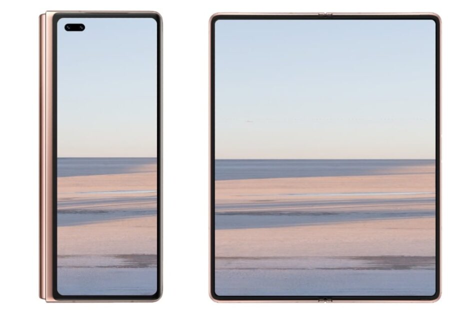 Huawei Mate X2 Confirmed to Come With Kirin 9000 SoC, Alleged Render Show Dual Hole-Punch Selfie Cameras