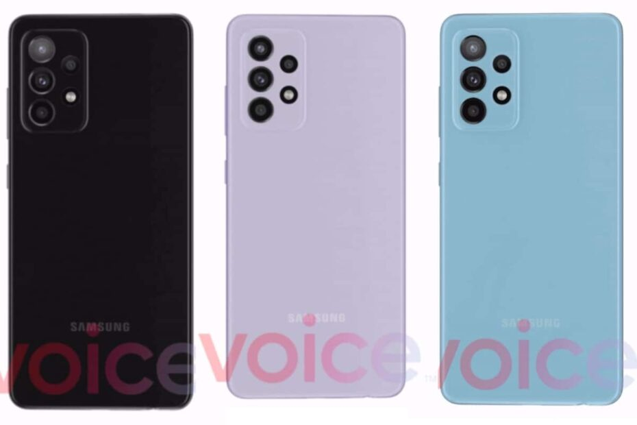 Samsung Galaxy A52 5G Fresh Renders Tip Four Colour Options, Show Design in Detail