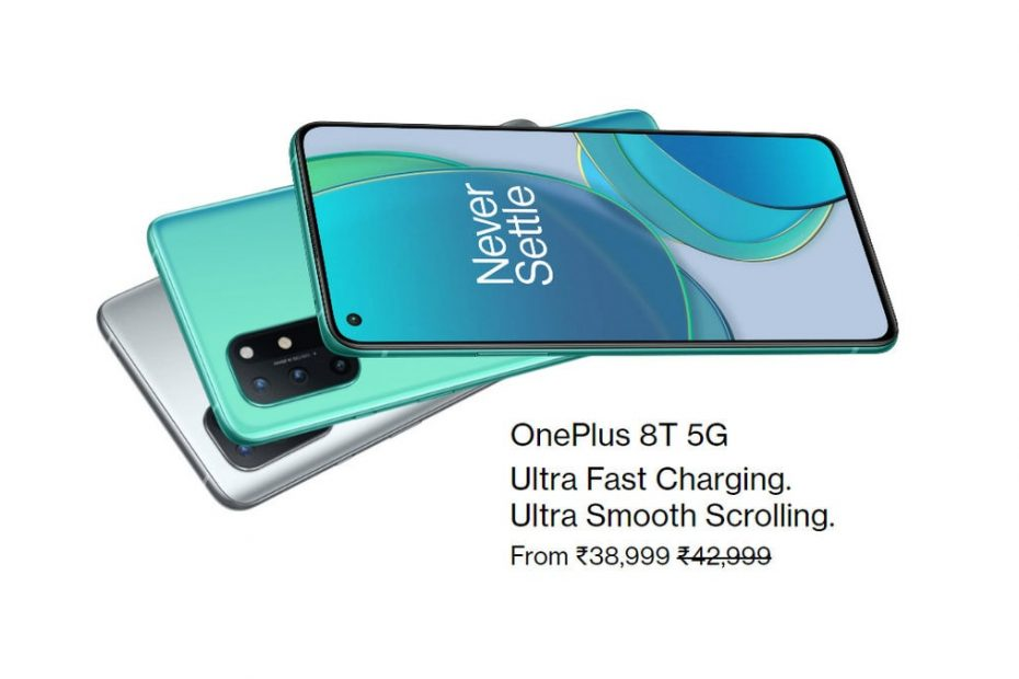 OnePlus 8T Now Starts at Rs. 38,999 After Price Cut Making It Cheaper Than OnePlus 9R