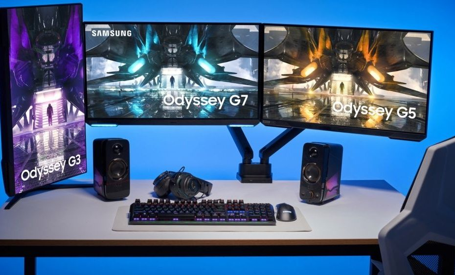 Samsung unveils its upgraded Odyssey gaming monitors