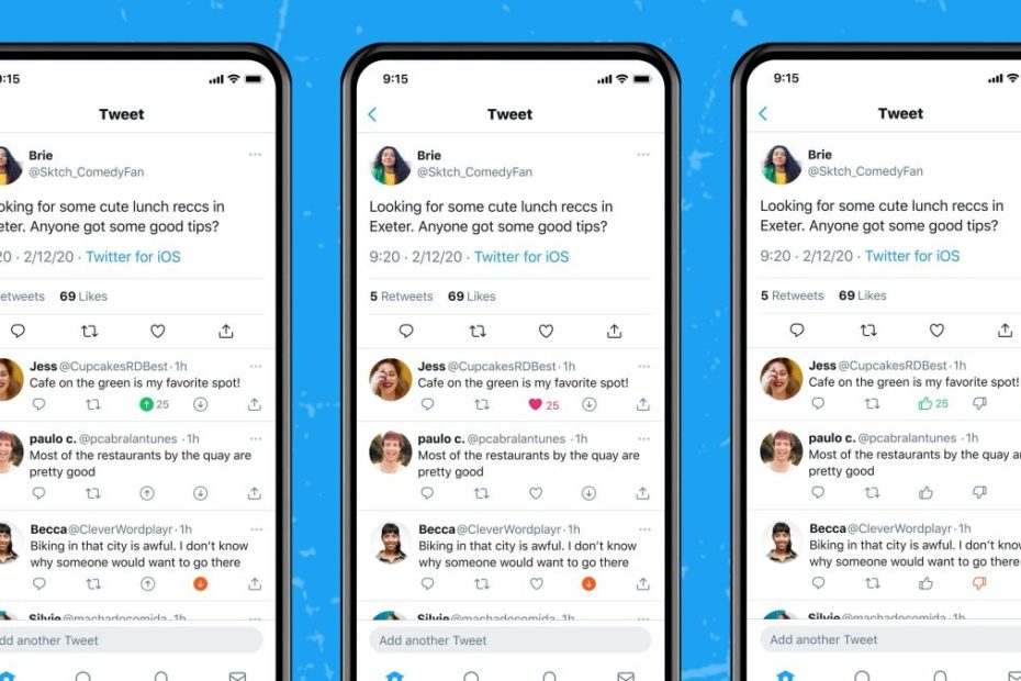 Twitter is testing a downvote button that's visible only to you