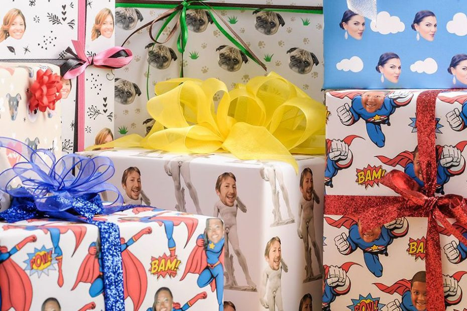 This year, wrap all your presents with a photo of your face. Here's how